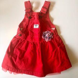 Red tutu overalls